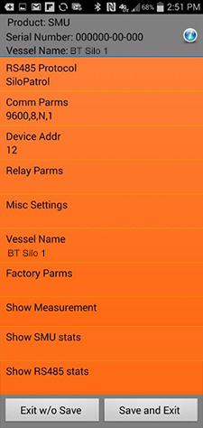 ConfigureSensor Screenshot